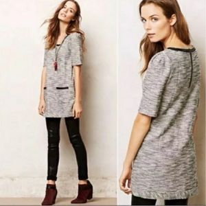 Anthropologie Postmark tweed tunic dress